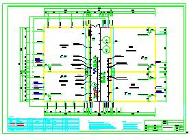 [广东]某给水处理厂全套给排水施工cad设计图-图一