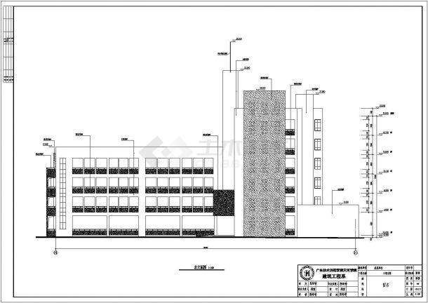办公楼设计_某四层框架结构办公楼工程脚手架设计cad全套施工图(含办公楼建筑设计,含脚手架施工方案)-图一