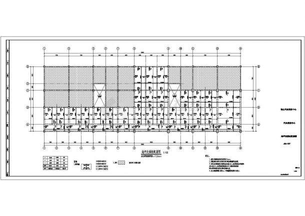 某三层框架结构办公楼设计cad详细结构施工图(含设计说明)-图二
