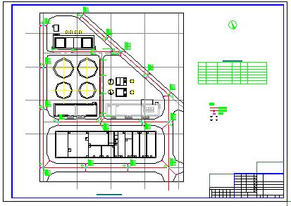 [河南]污水综合处理厂给排水cad施工设计图纸-图一