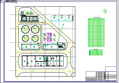 [河南]污水综合处理厂给排水cad施工设计图纸-图二