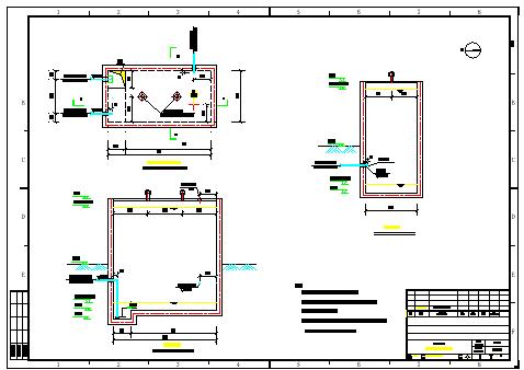 [辽宁]工业园区污水处理厂给排水施工cad图纸(工艺图、详图、安装图)-图二