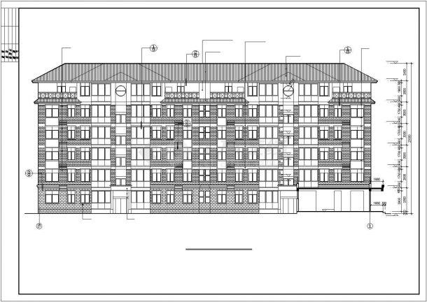 锦州某小区3000平米6层框混结构商住楼建筑设计CAD图纸(1层商铺)-图一