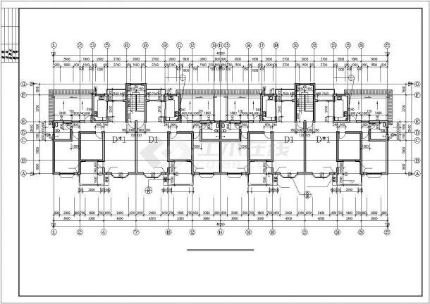 锦州某小区3000平米6层框混结构商住楼建筑设计CAD图纸(1层商铺)-图二