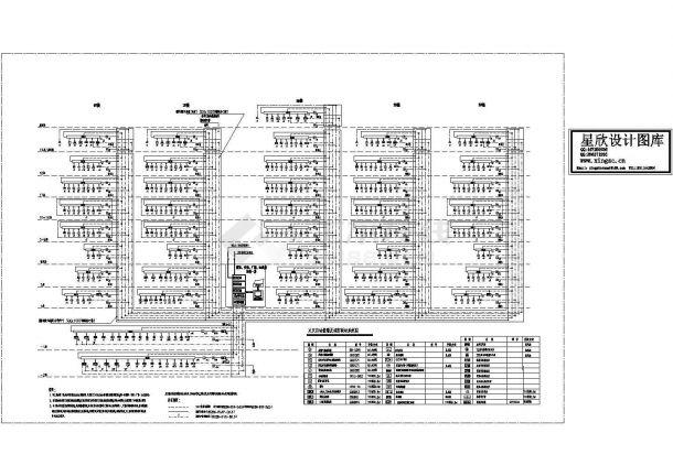 某十九层大厦火灾自动报警及消防联动系统设计cad图纸-图一