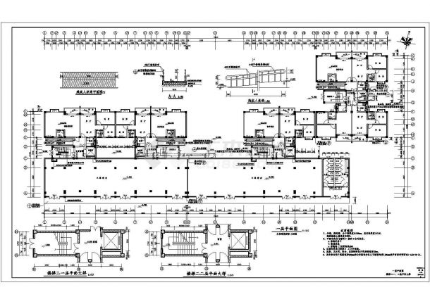 昆山市白马路某社区1.3万平米12层框架结构住宅楼全套建筑设计CAD图纸-图一