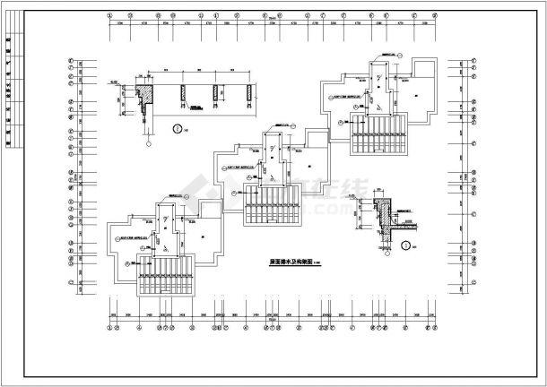 北京市某居住区9200平米12层框架结构住宅楼全套建筑设计CAD图纸-图一