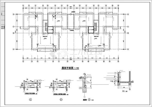 深圳市金沙花园小区6230平米8层框架结构住宅楼全套建筑设计CAD图纸-图一