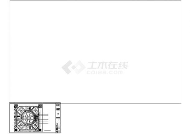 某地中餐厅装修设计cad施工图-图二