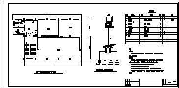 某市信息中心机房火灾自动报警系统设计cad图(含监控视频系统设计)-图一