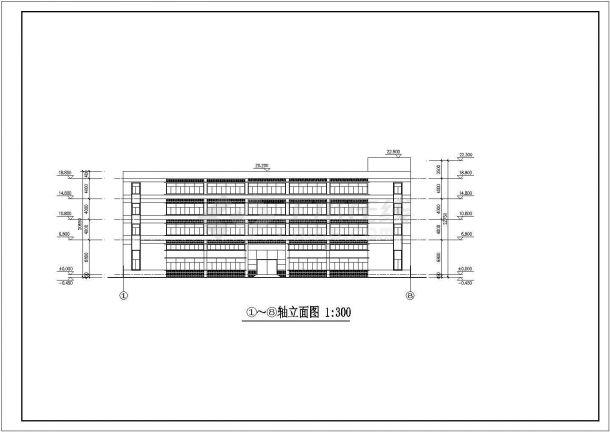 杭州市临安区某小区1.2万平米4层框架结构住宅楼全套建筑设计CAD图-图一