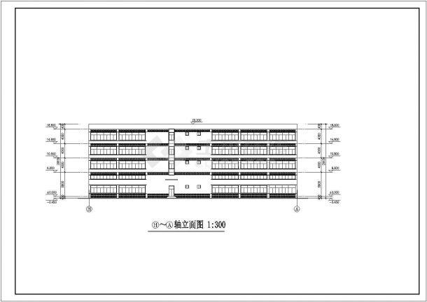 杭州市临安区某小区1.2万平米4层框架结构住宅楼全套建筑设计CAD图-图二