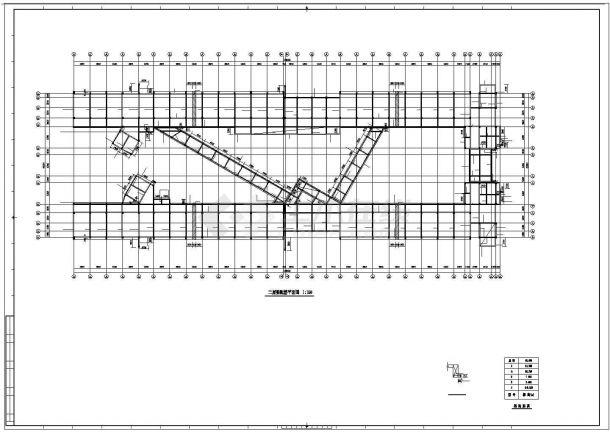 某教学楼6层框架结构设计cad施工图纸-图一