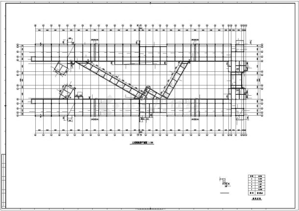 某教学楼6层框架结构设计cad施工图纸-图二