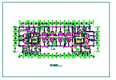 多层公寓建筑设计CAD平面图-图一