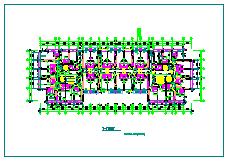 多层公寓建筑设计CAD平面图-图二
