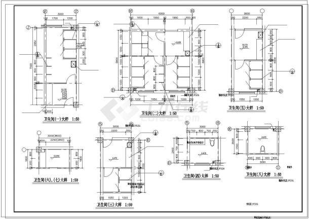 楼梯、电梯、卫生间大样cad图纸-图一