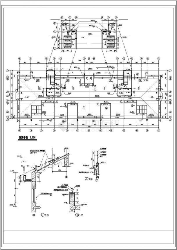 昆山某小区1.2万平米18层框架结构住宅楼建筑设计CAD图纸(含阁楼)-图一