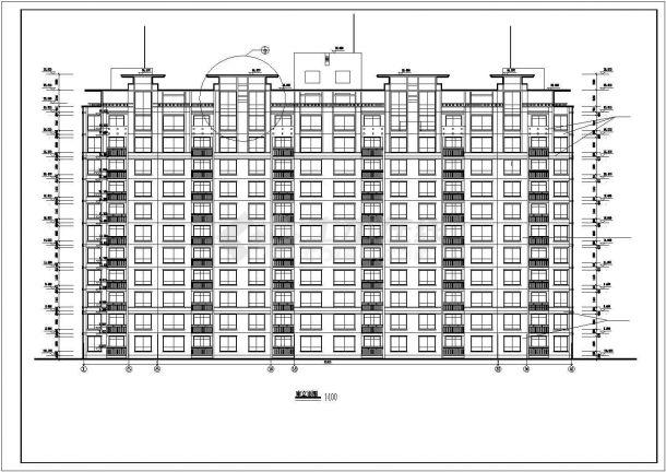 台州市惠阳北路某居住区11层框架结构住宅楼全套建筑设计CAD图纸-图一