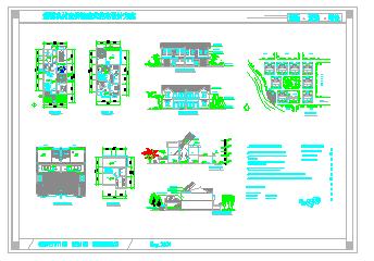 新型农村双拼独院式住宅建筑设计施工图设计说明-图二