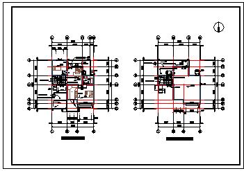 大户型别墅全套cad建筑设计施工图纸-图一