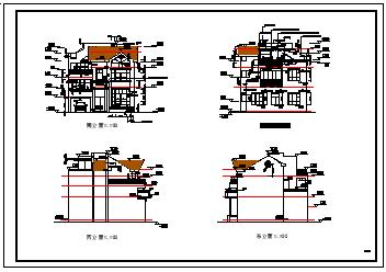 大户型别墅全套cad建筑设计施工图纸-图二