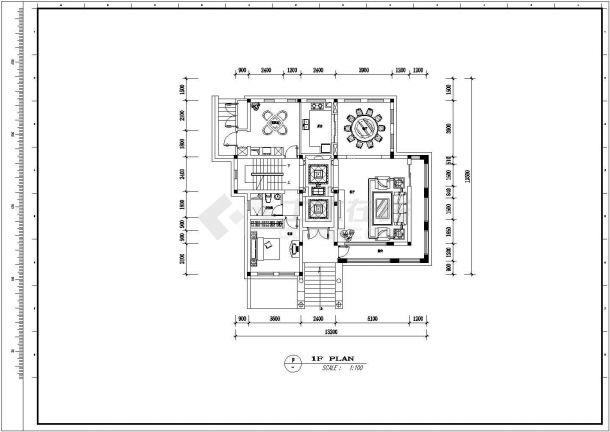 某地区别墅装修方案设计施工CAD图纸-图一