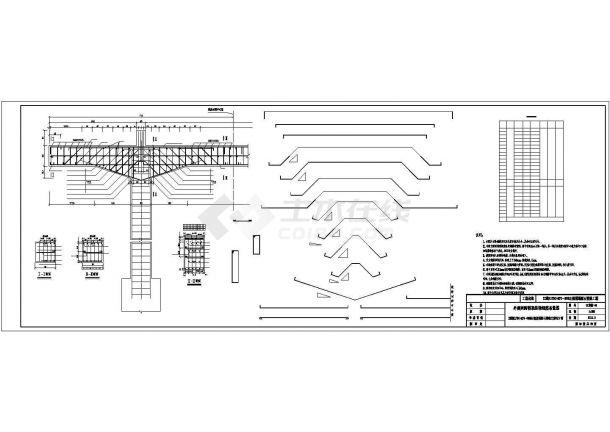 某地区铁路工程崩塌落石整治方案设计施工CAD图纸-图一