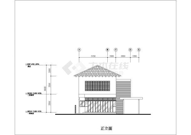 某地区完整别墅建筑方案设计施工CAD图纸-图一
