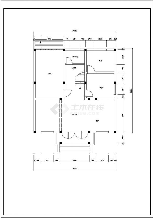 某地区现代乡村别墅建筑装饰方案设计施工CAD图纸-图一