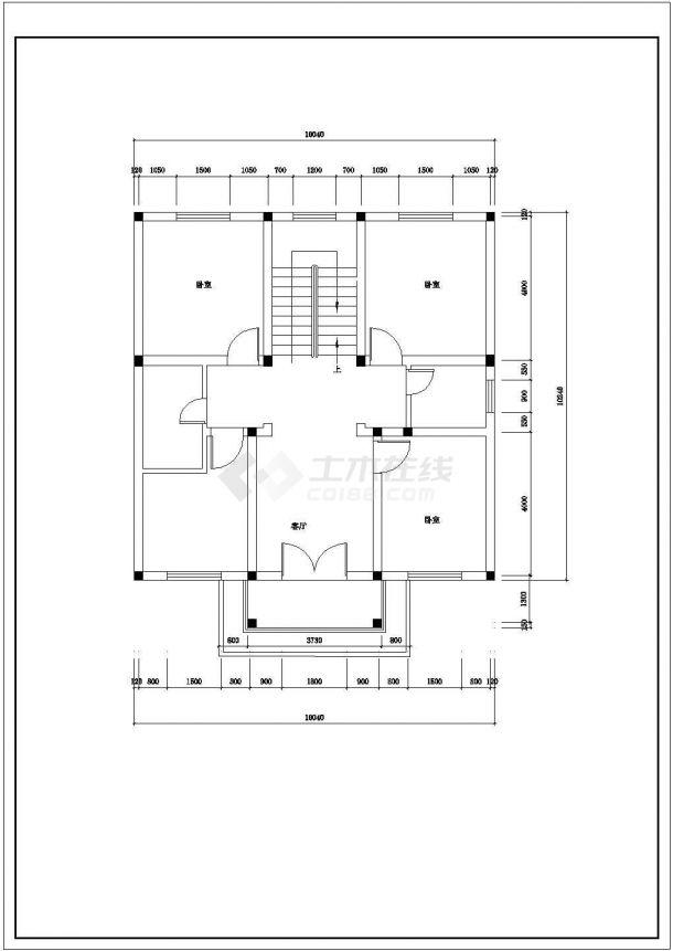 某地区现代乡村别墅建筑装饰方案设计施工CAD图纸-图二