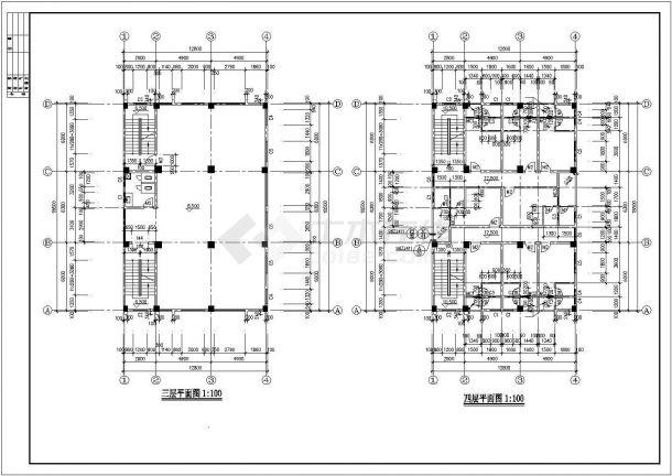 某地区乡镇固戍村私宅建筑方案装修设计施工CAD图纸-图二