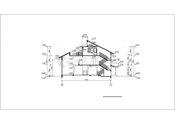 某地区小别墅建筑方案设计施工CAD图纸-图二