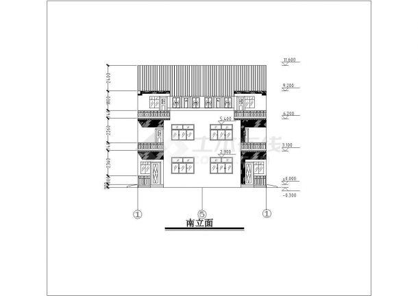 某地区小别墅建筑全套方案设计施工CAD图纸-图一
