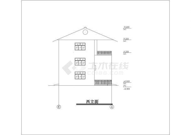 某地区小别墅建筑全套方案设计施工CAD图纸-图二