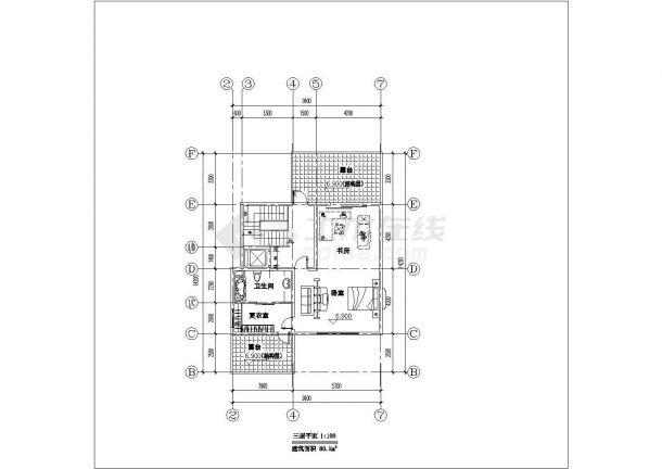 某地区多层小别墅建筑方案设计施工CAD图纸-图一