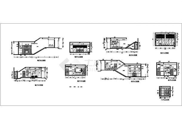 某地区现代小型别墅建筑装修设计施工CAD图纸-图二