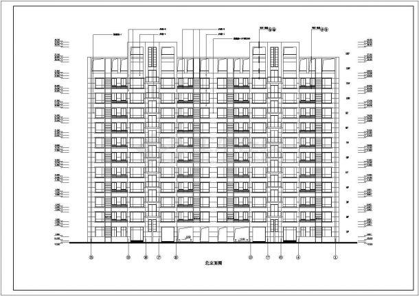 湖州市南兴路某居住区13层框架结构住宅楼全套建筑设计CAD图纸-图一