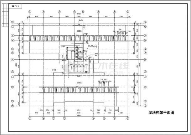 佛山市某干部家属院12层框架结构住宅楼建筑设计CAD图纸(含地下层)-图一