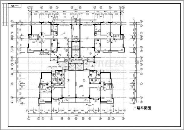 佛山市某干部家属院12层框架结构住宅楼建筑设计CAD图纸(含地下层)-图二