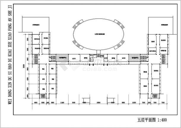 某地区十号地块新校区教学建筑工程设计cad图(含平立剖、总平面图)-图一