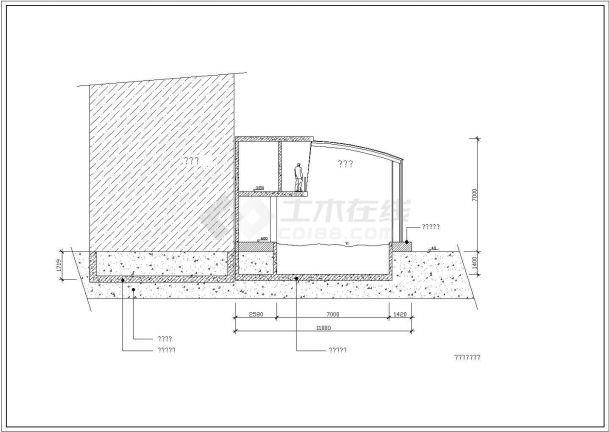 【某著名设计院】某豪宅公寓内游泳馆全套CAD施工图纸-图二