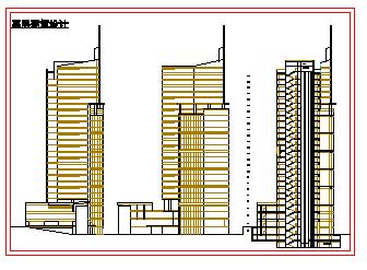 高层高层综合楼建筑设计施工图-图二