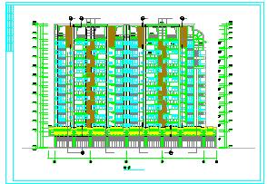 [整套]某高层住宅cad建筑设计施工图-图一