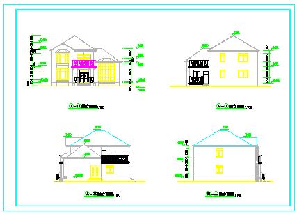 经典小别墅全套cad建筑结构施工图纸-图一