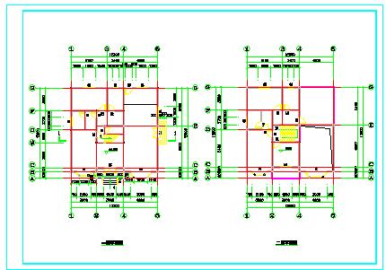 经典小别墅全套cad建筑结构施工图纸-图二