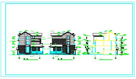 北京联排别墅cad施工建筑设计图纸-图一