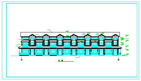 北京联排别墅cad施工建筑设计图纸-图二