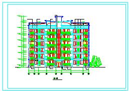 北京商住楼公寓建筑cad设计施工图-图二