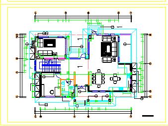 北京五环某别墅D户型cad全套设计施工图纸-图二